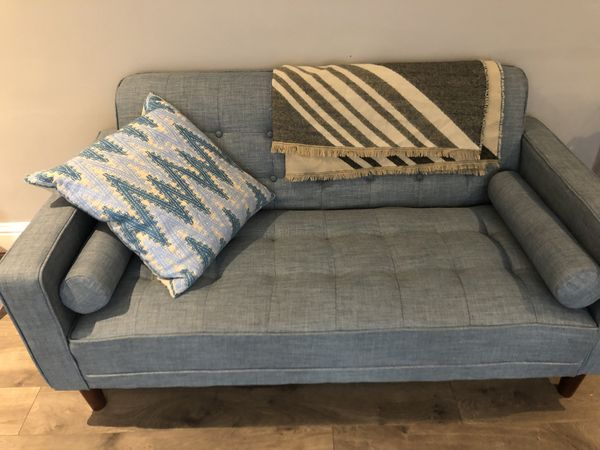 Beautiful Mid Century Baby Blue Couch San Francisco Ca