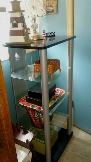 (2) 5 tier glass audio/video component racks for Sale in Charlotte Court House, VA