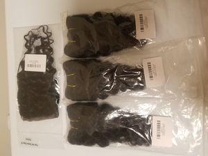 "Brazilian human hair Deepwave Bundle deal 10""(3 bundles)with 10closure for Sale in Washington, DC"