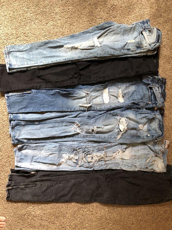 Men s ripped PacSun Golden Denim distressed newer jeans 30 waist 30-32  length d66ff55941bc