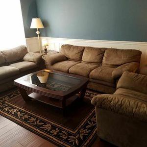 Leather sofa set Three Piece for Sale in Manassas Park, VA