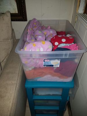 Bin of girls clothes 3t-5t ,some are lightly worn some are brand new for Sale in Alexandria, VA