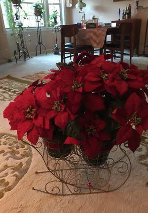 Holiday poinsettia decoration for Sale in Woodbridge, VA