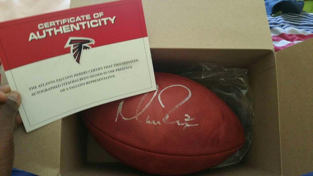 Matt Ryan autographed football