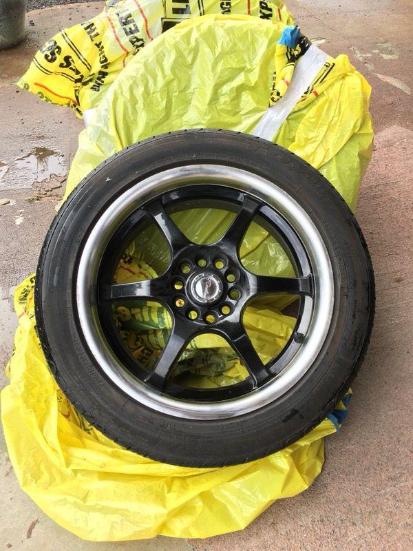 Race line 126 Black wheels mounted on Eclipse All Season BW (Auto ...