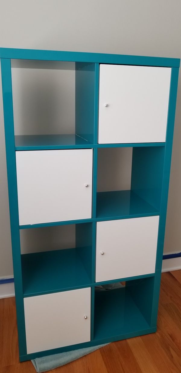 the latest e4172 f9aa9 Ikea Kallax bookshelf/ cube organizer/ shelf unit ; color -Turquoise for  Sale in Elk Grove Village, IL - OfferUp