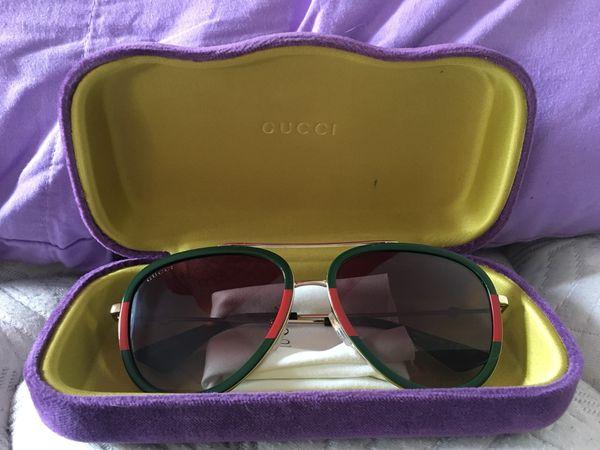 ddf0a9deeb Authentic Gucci GG0062S 003 Aviator Red Green Sunglasses for Sale in ...