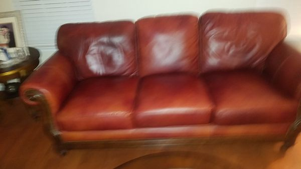 Pleasant Marlos Fine Red Leather Couch For Sale In Woodbridge Va Machost Co Dining Chair Design Ideas Machostcouk