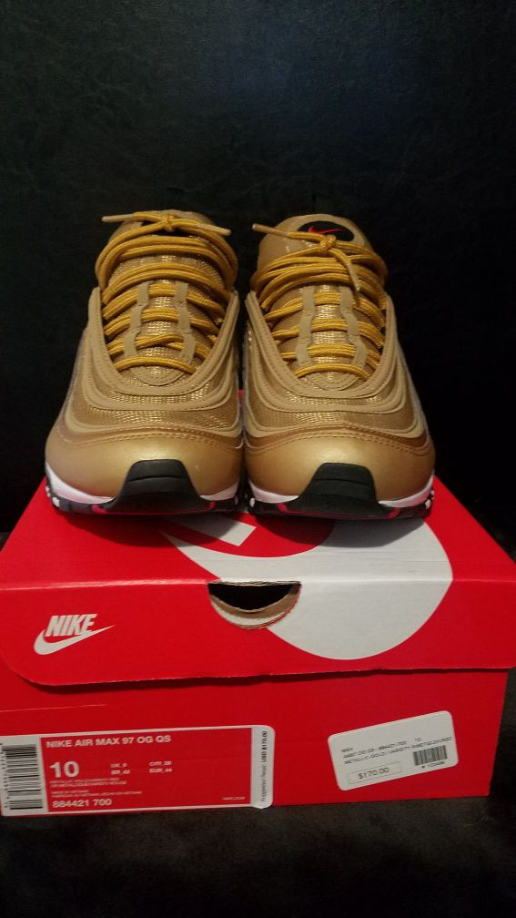 free shipping aca1e a67ae Air Max 97 Gold Size 10 Men DS for Sale in Redwood City, CA - OfferUp