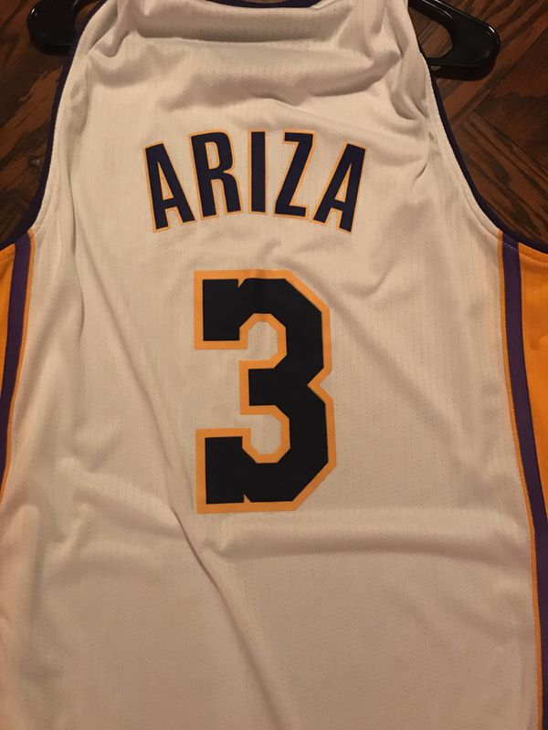 new york 80fb5 72f78 Trevor Ariza Lakers Jersey with finals patch for Sale in Orange, CA -  OfferUp