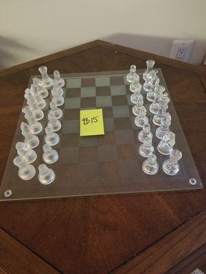 Glass Chess Set for Sale in Fairfax, VA