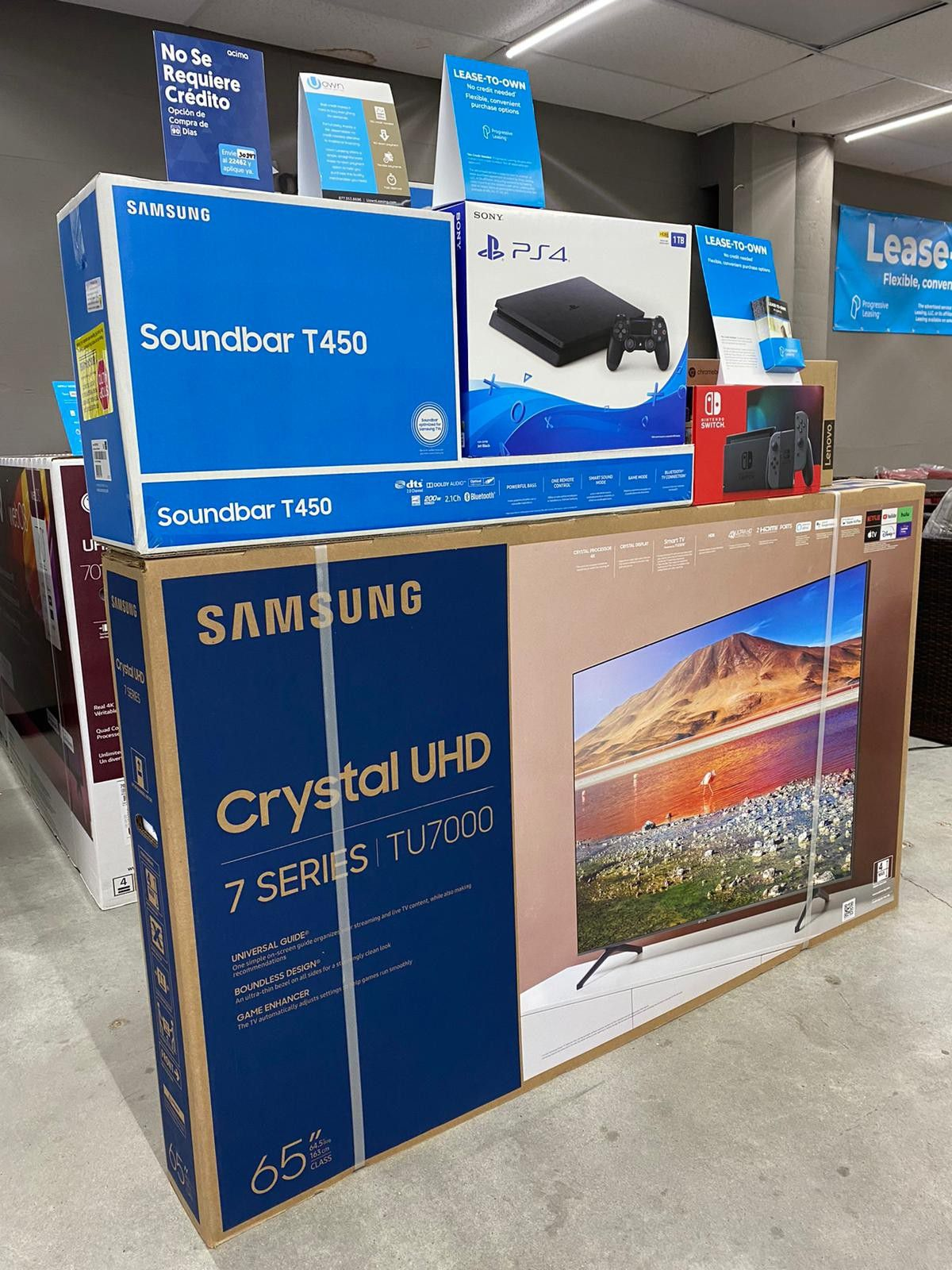 """🔥🔥SAMSUNG 65"""" Smart 4K TV 🔥🔥with ps4 or Soundbar or gaming console or tablet or laptop 👏👏 No credit check"""