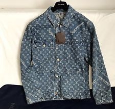55b167b42be0 Louis Vuitton Supreme Denim Jacket for Sale in Louisville