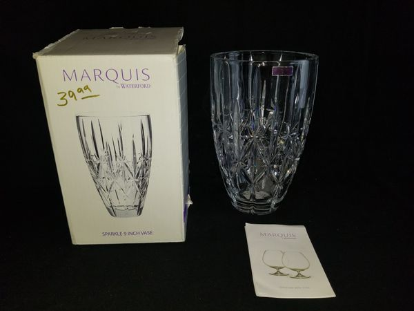 Brand New Marquis By Waterford 9 Sparkle Vase For Sale In Portland