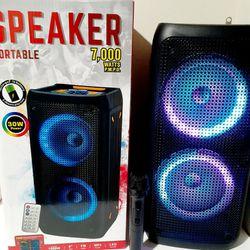 SPEAKER BLUETOOTH USB FM AUXILIAR KAREOKE LOUD WIRELLES RECHARGEBLE MICROPHONE BLUETOOTH $80. BRAND NEW Thumbnail