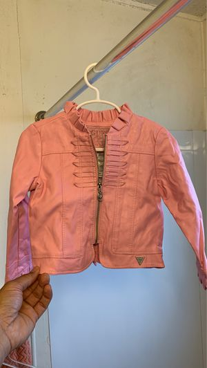 Photo Toddler 3t guess leather jacket pink
