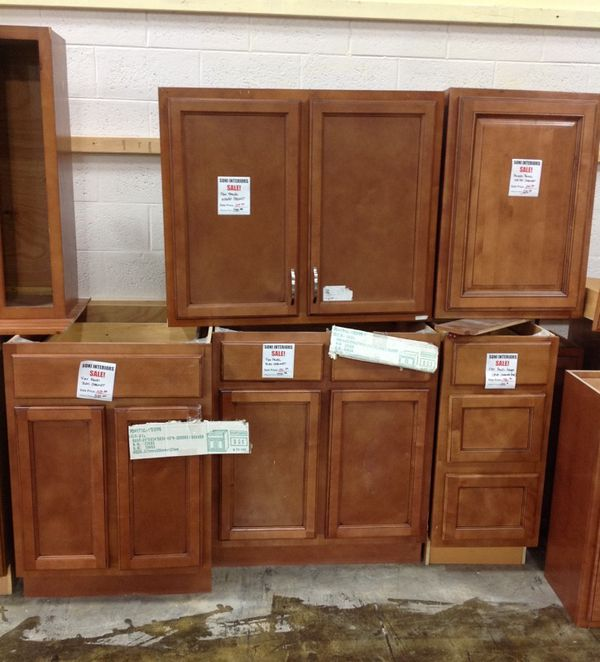 Flat Panel Ginger Cocoa Kitchen Cabinets Clearance As Low As