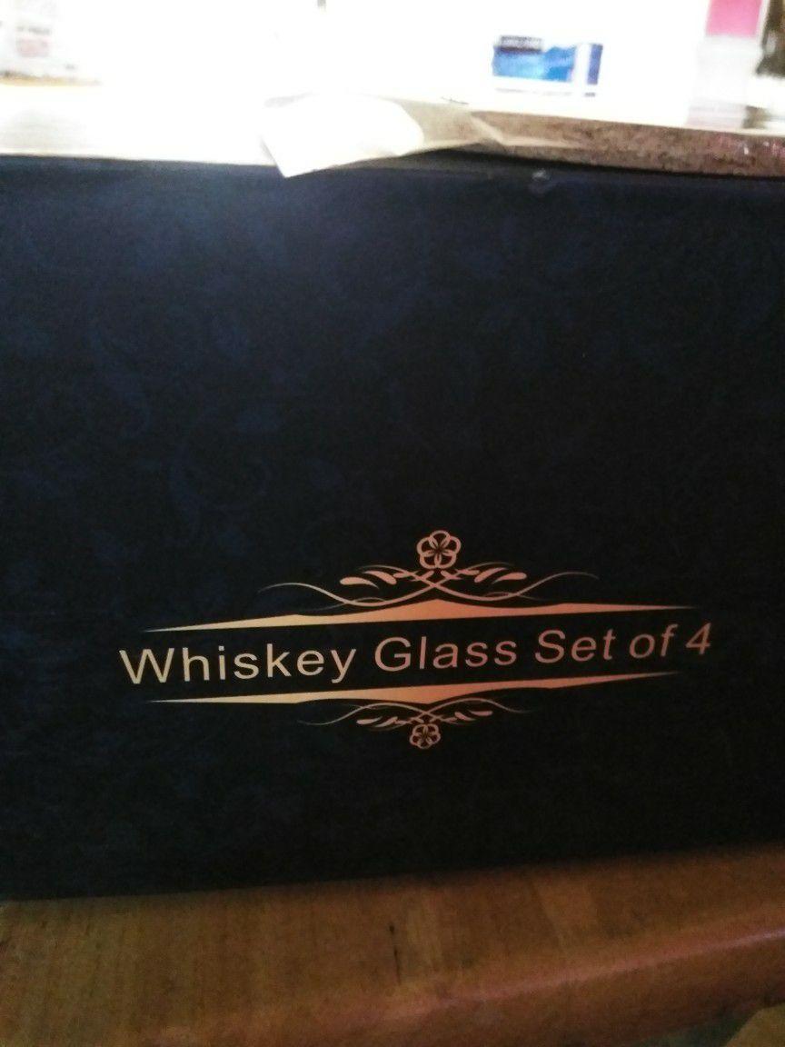 Whiskey glass set of 4