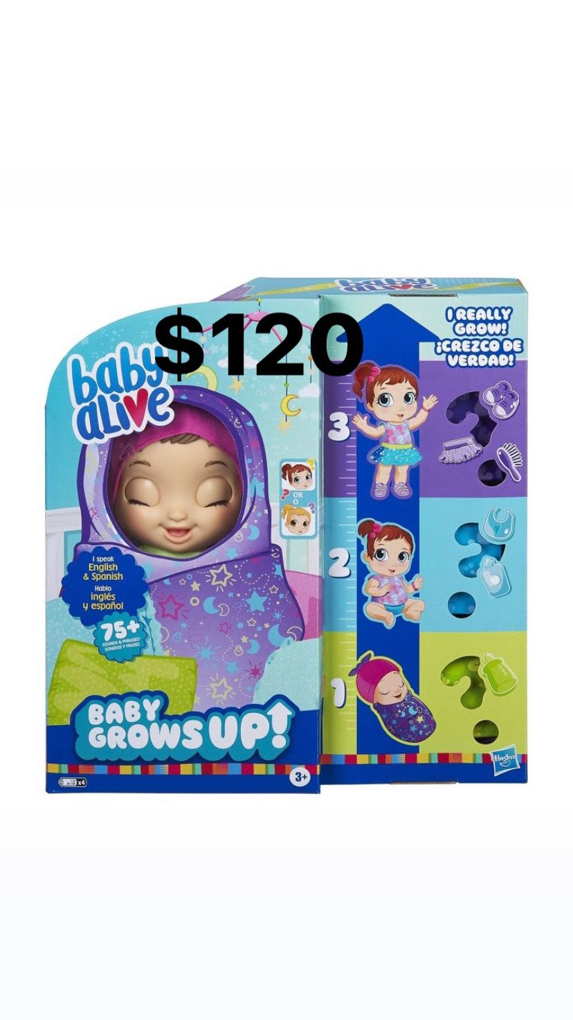 Baby alive grows up baby $100