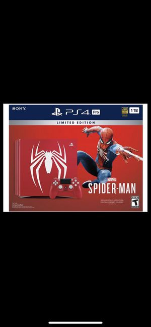 Spider-Man PS4 pro for Sale in Lanham, MD