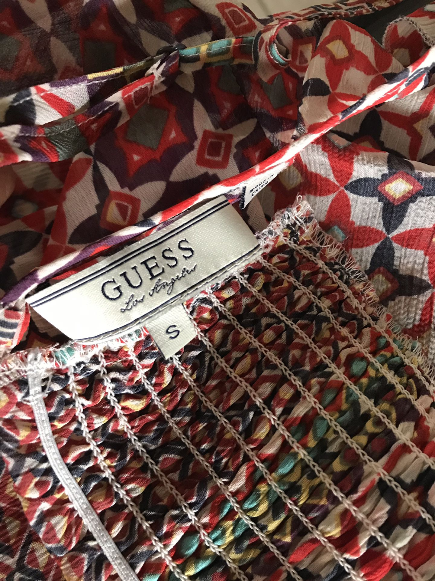 Guess Los Angeles Women's Shirt With Folds In Front Size S Multicolor