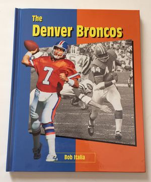 Photo DENVER BRONCOS Hardcover History Book Copyright 1996 **EXTREMELY RARE**