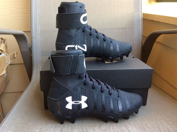 08629f99b NEW YOUTH BIG KIDS UNDER ARMOUR UA C1N MC JR CAM NEWTON HIGH FOOTBALL  CLEATS Sz 2.5Y