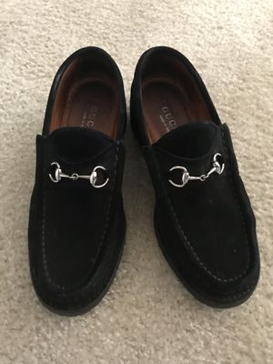 Gucci women black suede iconic luxury loafers 7.5 for Sale in Alexandria, VA