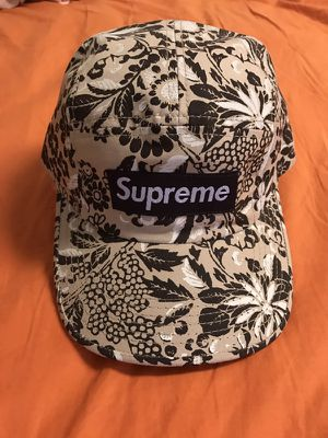 Supreme camp cap. Floral pattern. Authentic for Sale in South San ... 442bd34290c