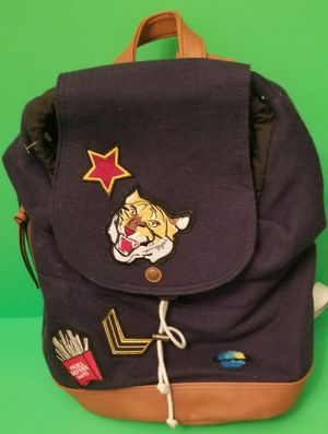 Photo Madden Girl Navy Blue Patches Backpack