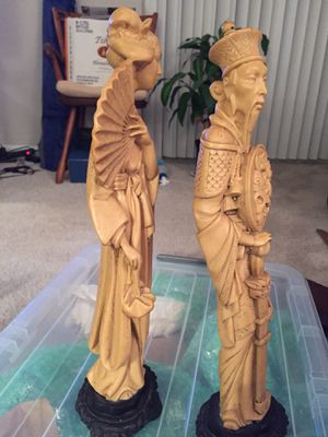 Asian carved statues for Sale in Fairfax, VA