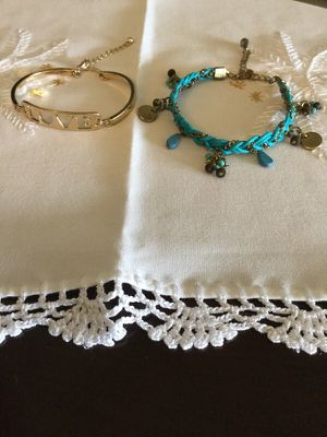 Fashion Jewelry / LOVE bracelet & Blue Charms bracelet 💙 for Sale in Annandale, VA