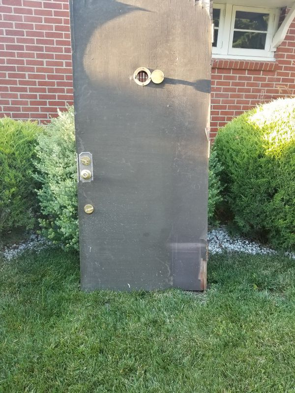 A 1950 Era Entrance Door With Cute Peephole For Sale In