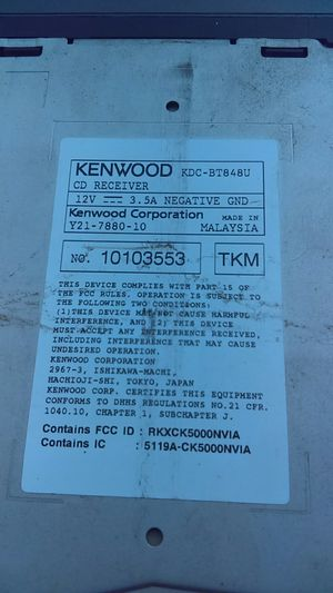 Kenwood Bluetooth stereo for Sale in Santa Ana, CA - OfferUp on