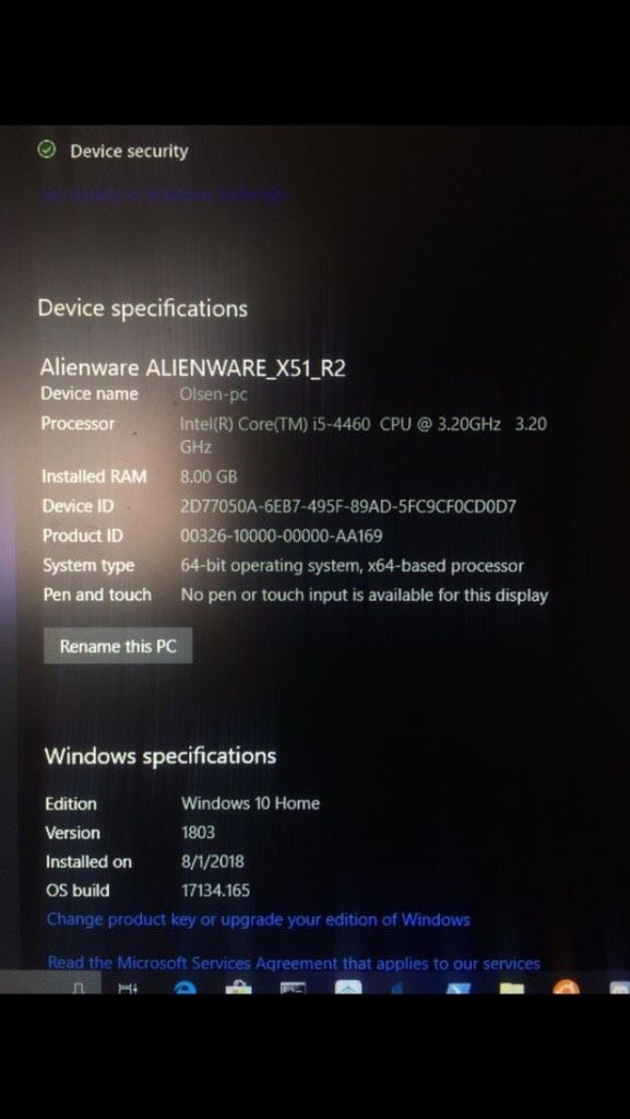 Alienware Windows 10 Os
