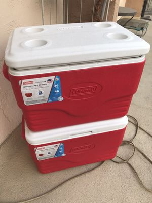 Set of 2 new Coleman coolers for Sale in Culver City, CA