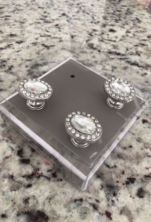 Rhinestone furniture knobs / drawer pulls - 3 for Sale in Apex, NC