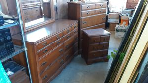 Photo Full Size Real Wood Bedroom Set High End Furniture