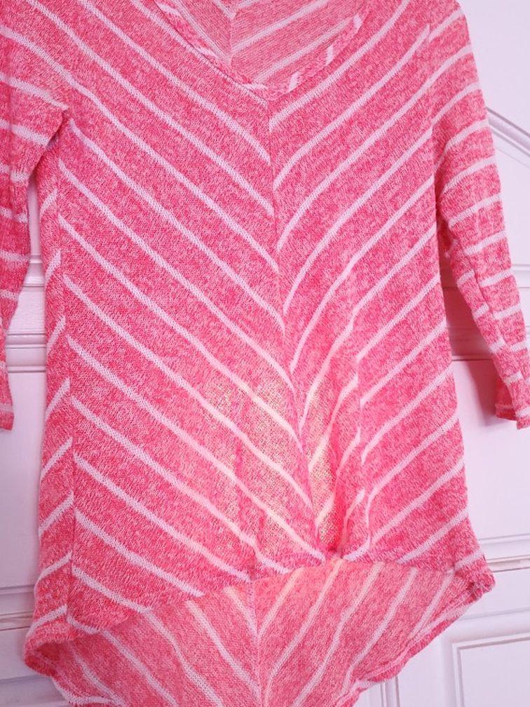 Pink High Low Half Sleeve Top