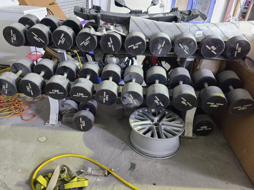 Iron grip dumbbells