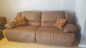 Brown Reclining Couch for Sale in Hanover, MD