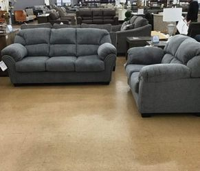 Allmaxx Pewter Living Room Set Sofa, loveseat & couch & sectional) ask price Thumbnail