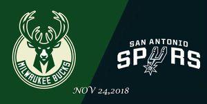 Milwaukee Bucks vs San Antonio Spurs - NOV 24, 2018 for Sale in Detroit, MI