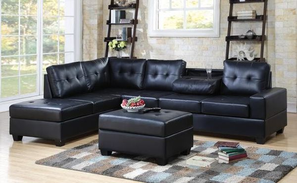 Red reversible sectional sofa (Furniture) in San Antonio, TX - OfferUp
