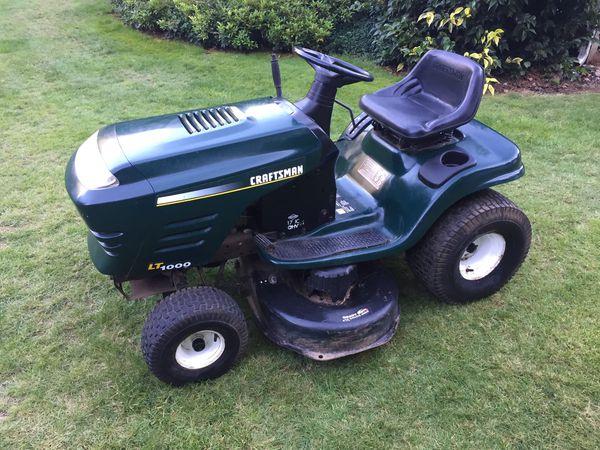 Craftsman Lt1000 Riding Mower >> Craftsman Lt1000 Riding Mower 17 H P Briggs Six Speed 42 Deck