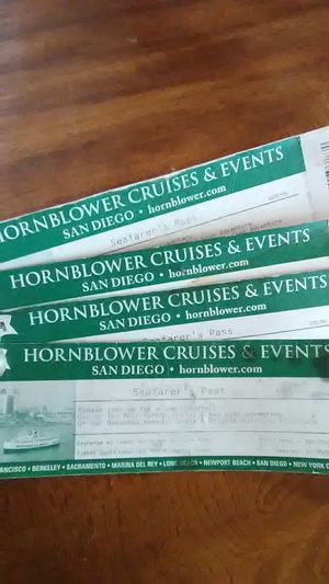 4 Hornblower Cruises & Events tickets for Sale in San Diego, CA