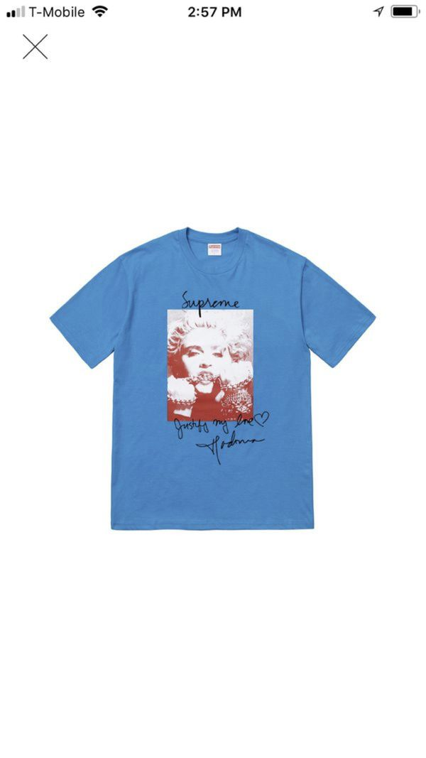 31edaf9a Supreme Madonna tee blue size large DS for Sale in Silver Spring, MD ...
