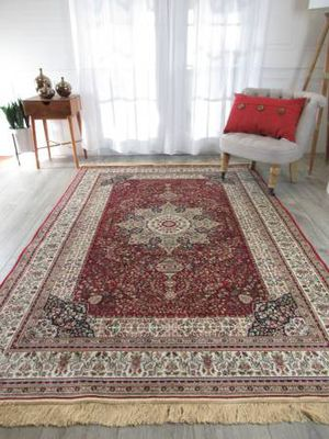 Brand new luxury soft silk traditional design area rug size 8x12 nice red carpet rugs and carpets for Sale in Burke, VA