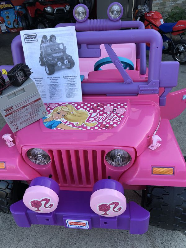 Barbie Jeep Wrangler 12volt Electric Kids Ride On Cars Wheels For In Long Beach Ca Offerup