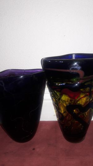 Collectible Genuine Hand Blown (Art Glass) read description. $25 for both firm price for Sale in Las Vegas, NV